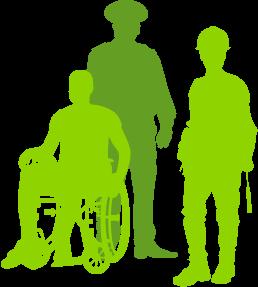 Bild von gezeichneten Leuten in der Gruppe 1